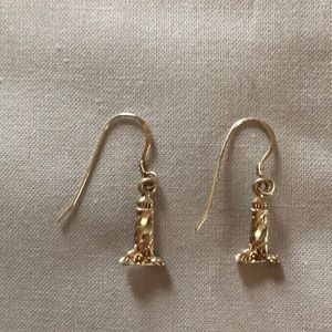 Silver Lighthouse earrings